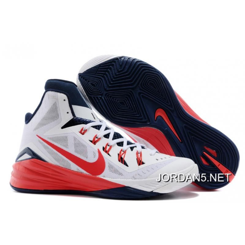 "newest 90065 c1641 Top Deals Nike Hyperdunk ""USA"" White University Red-Obsidian ..."