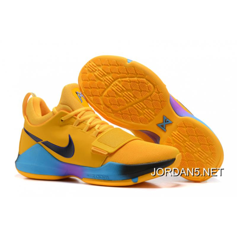 "hot sale online 17bc7 195f9 New Release Nike Zoom PG 1 ""Flip The Switch"" Yellow Black Blue Violet"