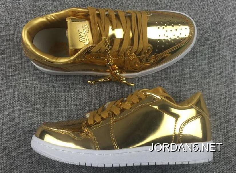 quality design 47545 a9a11 Online Air Jordan 1 Low Pinnacle Metallic Gold