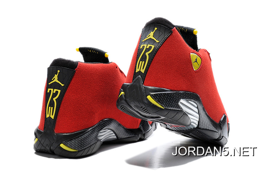 dfe471a8742 ... where to buy air jordan 14 ferrari chilling red black vibrant yellow  new release 2a18a b41fd