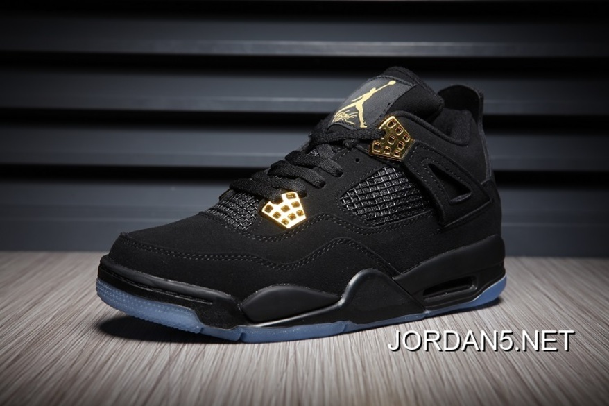 huge discount fe08e ace73 New Style Air Jordan 4 Black/Gold Glow