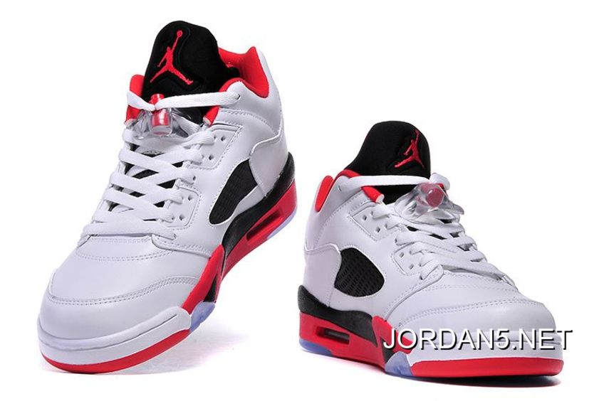 "outlet store 0aae1 2880b Online Air Jordan 5 Low ""Fire Red"" White/Fire Red-Black"