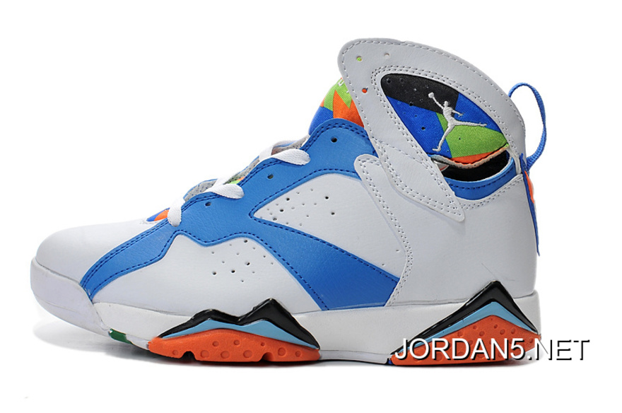 more photos 2ba17 8e0ac Authentic Air Jordan 7 White Blue Black Orange