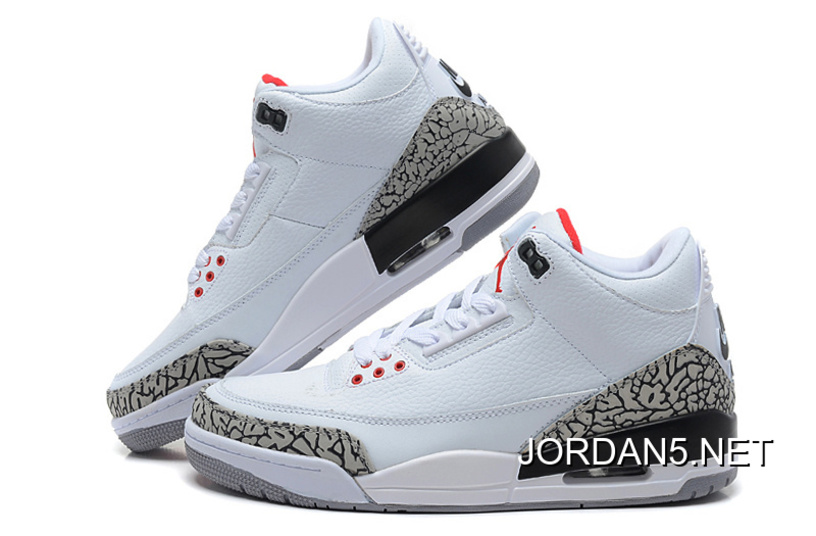 new style 7c254 830e6 New Style Air Jordan 3 Retro '88 White/Fire Red-Cement Grey-Black