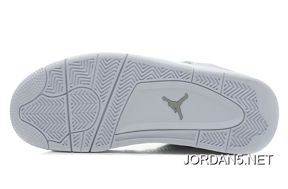 "sale retailer f3234 e366a Air Jordan 4 Retro ""Silver 25th Anniversary"" White Metallic Silver Latest"
