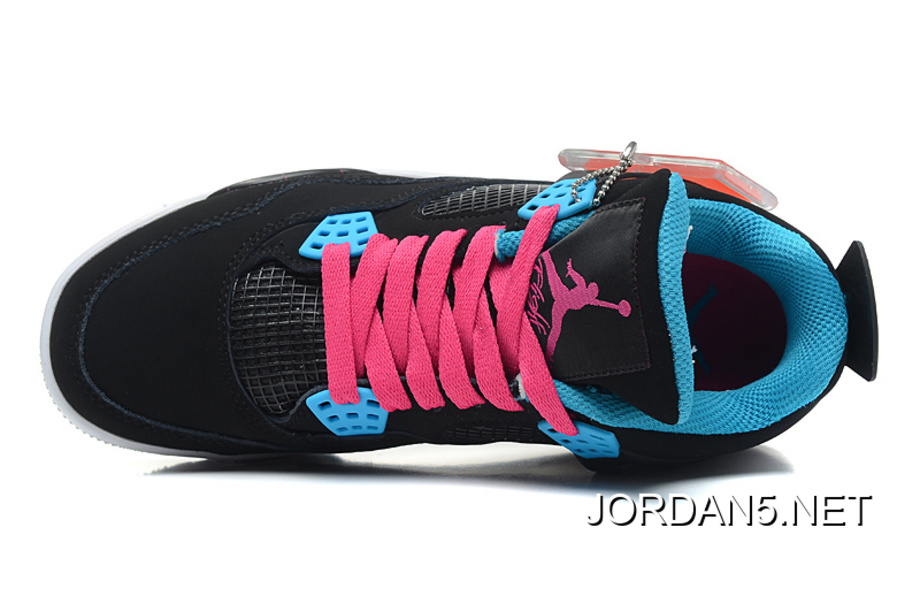 "7a50a59550fb Discount Air Jordan 4 Retro ""South Beach"" Black Dynamic Blue-White ..."