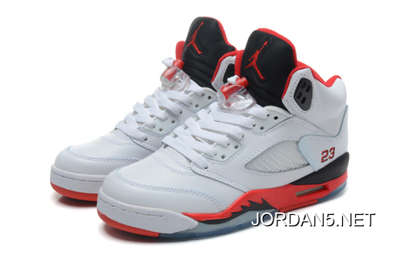 ed24afe7dc9399 Air Jordan 5 Retro White Fire Red-Black Top Deals