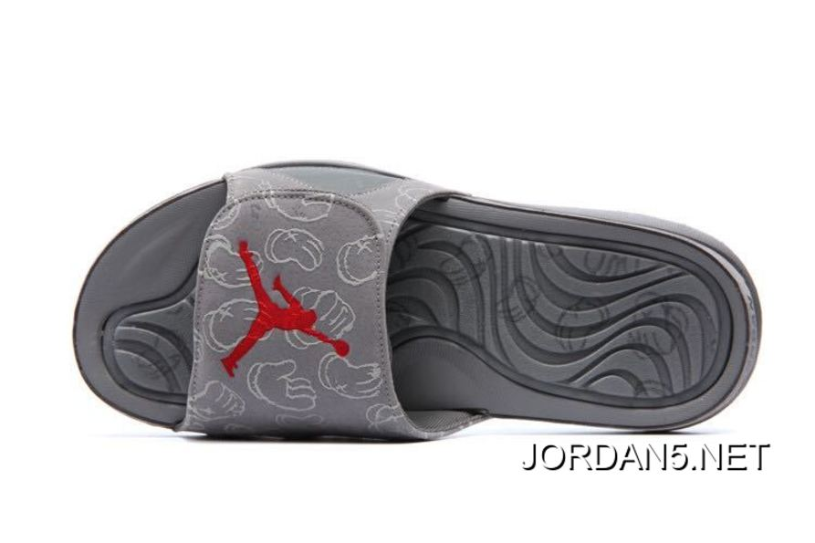 "promo code 96c34 ac32e Super Deals KAWS X Air Jordan 4 ""Cool Grey"" Glow In The Dark Slide"