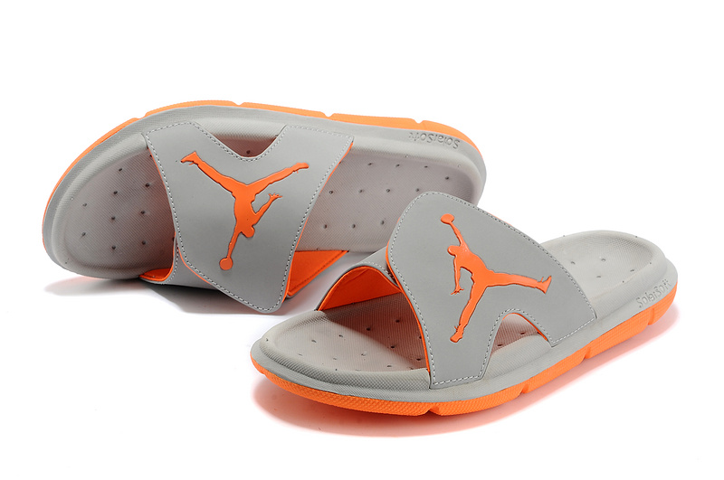 buy popular cfa45 8fa5d Air Jordan Hydro Slide Sandals Grey Orange For Sale