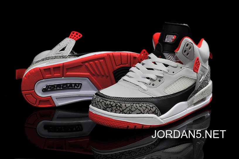 Copuon New Jordan Spizike Wolf Grey Gym Red-Black 33cbfd73d