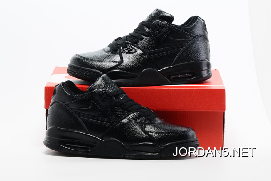 promo code 029ec 9ae67 czech discount nike air flight 89 all black leather basketball shoes c2083  14412