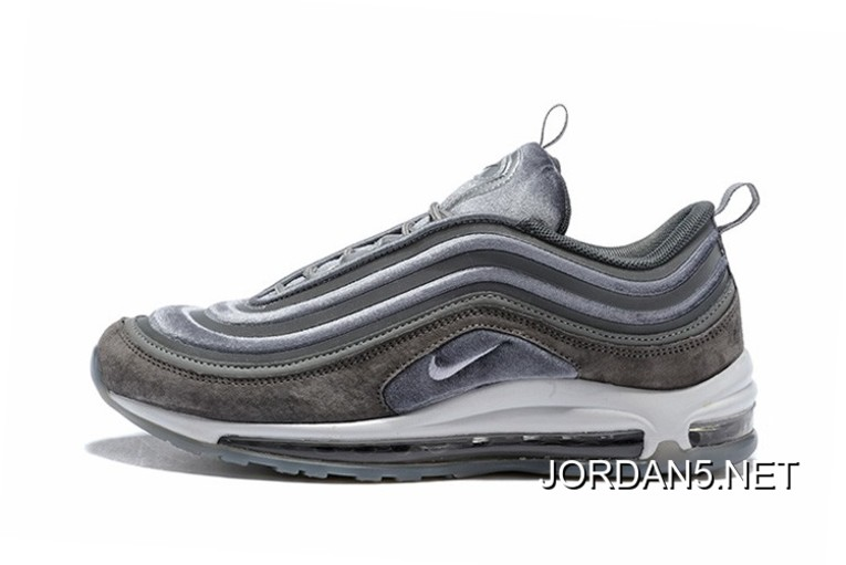 Super Deals Nike Air Max 97 Ultra 17 LX GunsmokeWhite Atmosphere Grey Suede