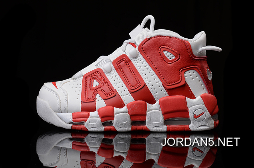 51aa814b7b Nike Air More Uptempo White Gym Red New Release