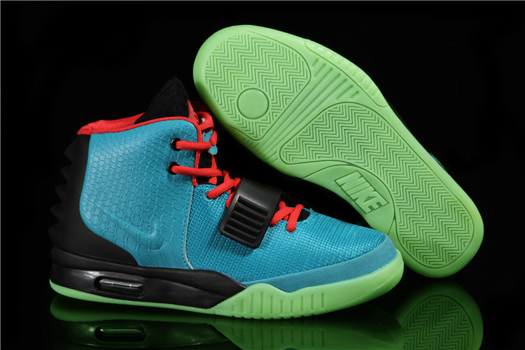 "fbe663853 Nike Air Yeezy 2 ""South Beach"" Glow In The Dark Sole Top Deals ..."