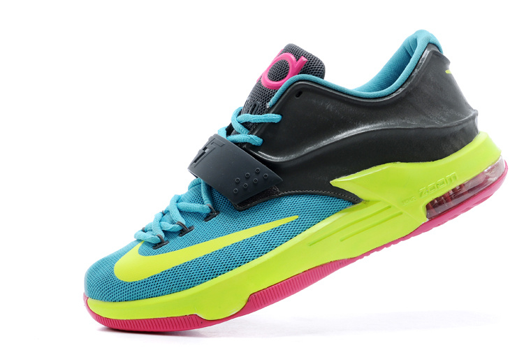 "brand new c6a4c ab27f Nike Kevin Durant KD 7 VII ""Carnival"" Hyper Jade Volt-Hyper Pink"