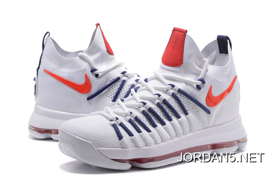 7d79763596ec ... discount code for super deals nike zoom kd 9 elite white dark blue  orange 9958f 5e5c1 ...