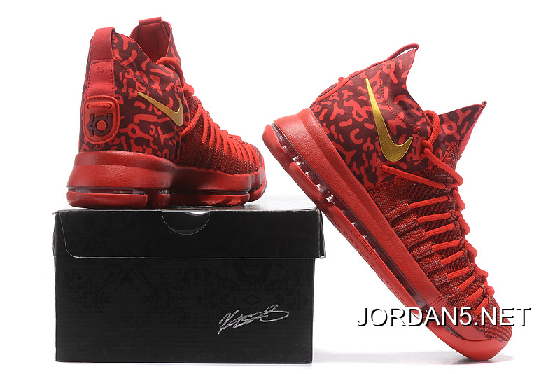753c3e7a86c2 Nike Zoom KD 9 Elite Varsity Red Gold Online