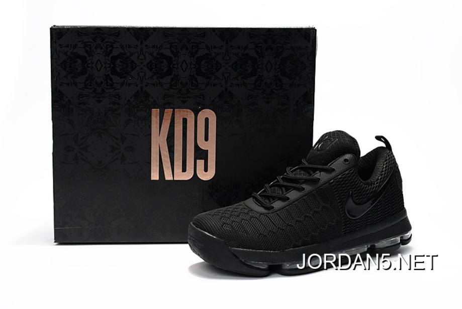 best loved a7be2 b18c7 New Release Nike KD 9 All Black Basketball Shoes