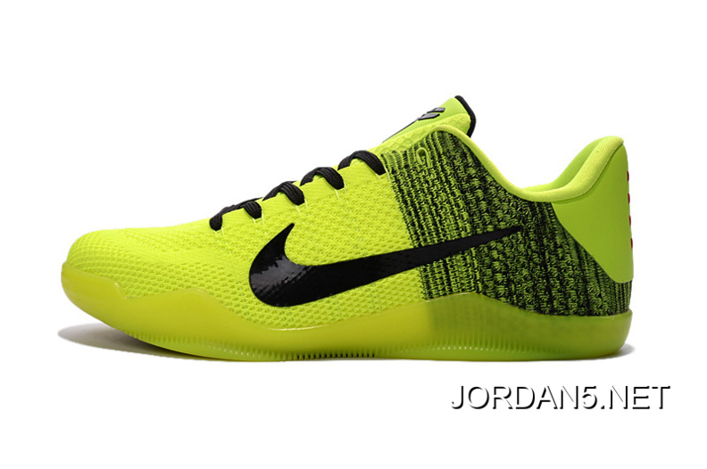 best sneakers 91c07 cdf08 Nike Kobe 11 Green Black-Volt Basketball Shoes Copuon
