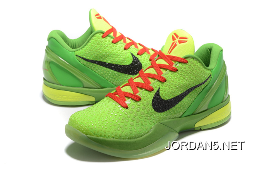 the best attitude 04422 b5638 ... coupon code for new release nike zoom kobe 6 grinch christmas green  mamba basketball shoes c5079