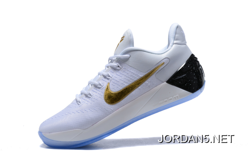 1612cbf33b29 Nike Kobe A.D. White Metallic Gold-Black New Year Deals