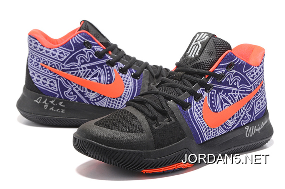 "detailed look 65da8 37257 Nike Kyrie Irving 3 ""Hamsa Hand"" Tattoo Basketball Shoes Discount"