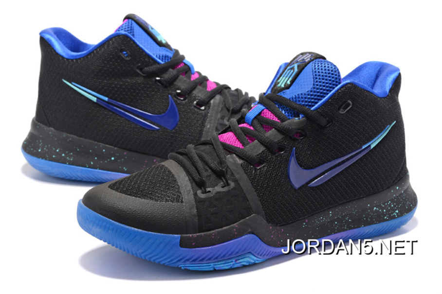 "Nike Kyrie 3 ""Flip The Switch"" Black Deep Royal Blue-Photo Blue Top ... 92a4d4ce9"