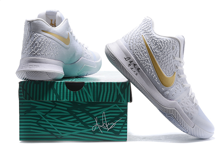 "size 40 2195e 3f430 Nike Kyrie 3 ""White Gold"" Christmas PE Discount"