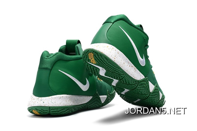 "buy popular dfcfc aefd0 Nike Kyrie 4 ""Celtics"" PE Green White-Gold Top Deals"