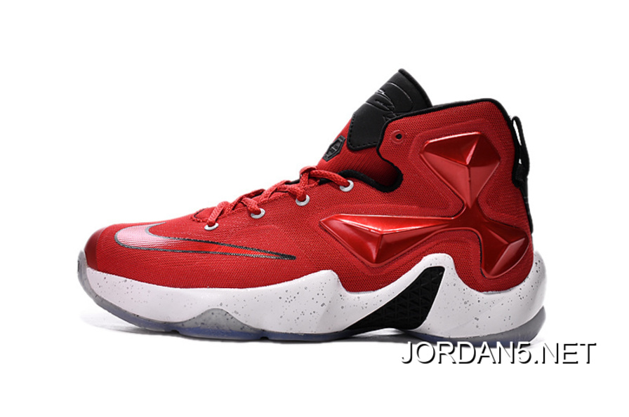 new concept 48c47 57940 Nike Lebron 13 Gym Red Black White Men Basketball Shoes For New Year Deals