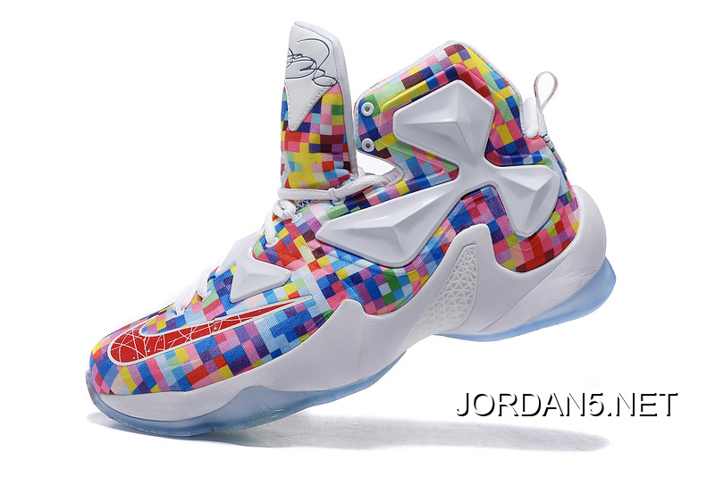 "58e1da112d50 New Release Nike LeBron 13 ""Prism"" Multi-Color University Red-White ..."