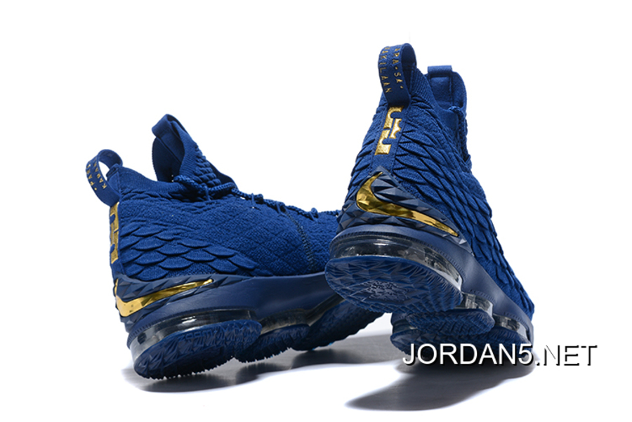 "Nike LeBron 15 ""Agimat Philippines"" Coastal Blue/Metallic Gold Super Deals"
