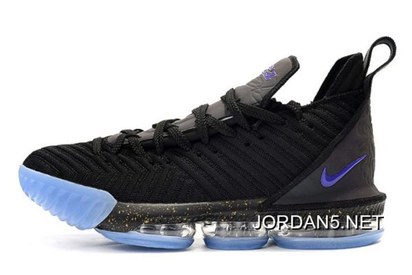 "Outlet Nike LeBron 16 ""Chameleon"" Black Blue Basketball Shoes"