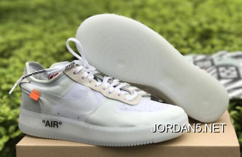 2018 Off White x Nike Air Force 1 Low Ghosting WhiteSail By